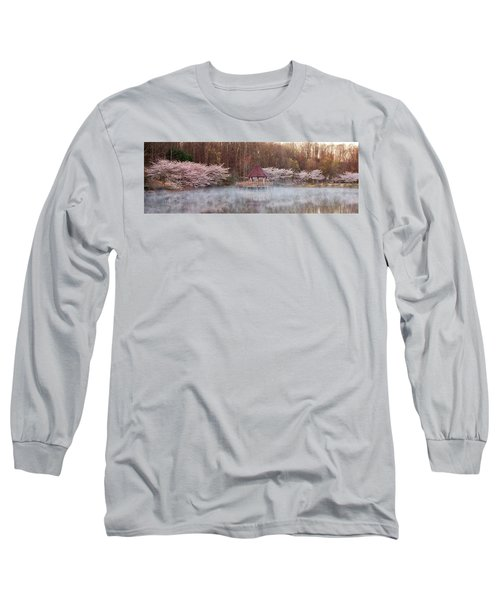 Gazebo And Cherry Trees Long Sleeve T-Shirt