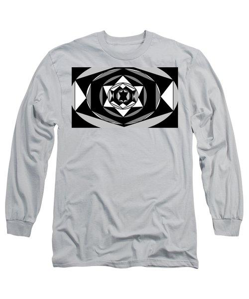 'geometric 1' Long Sleeve T-Shirt by Linda Velasquez