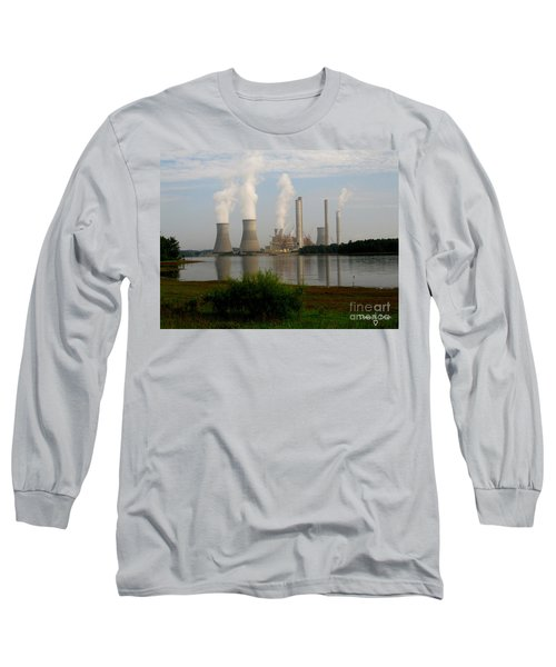 Georgia Power Plant Long Sleeve T-Shirt by Donna Brown