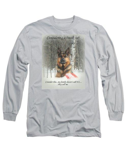 German Shepherd 911 Long Sleeve T-Shirt