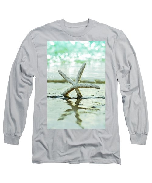 Long Sleeve T-Shirt featuring the photograph Get Your Feet Wet by Laura Fasulo