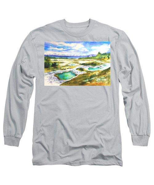 Geyser Basin, Yellowstone Long Sleeve T-Shirt