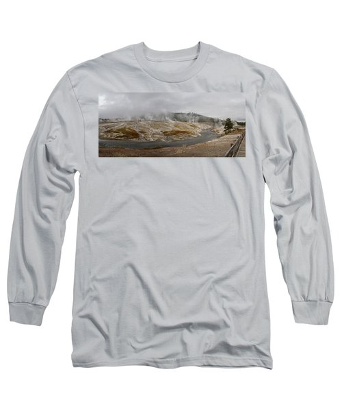 Geyser Hill  Long Sleeve T-Shirt by Shirley Mitchell