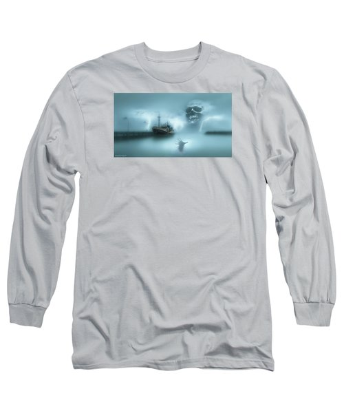 Ghost Ship 0002 Long Sleeve T-Shirt by Kevin Chippindall