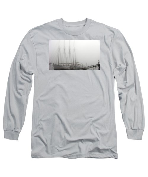Ghost Ship Long Sleeve T-Shirt by Helen Haw