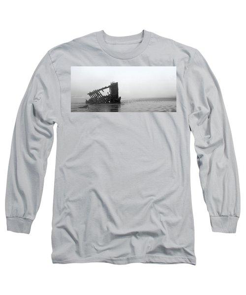 Ghost Ship Long Sleeve T-Shirt by Joseph Skompski