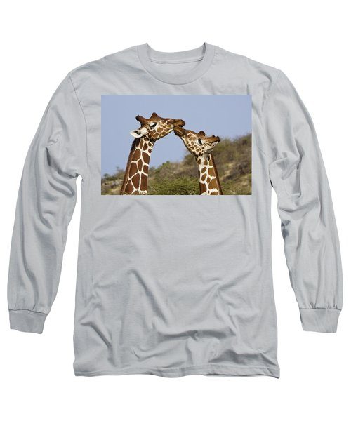 Giraffe Kisses Long Sleeve T-Shirt