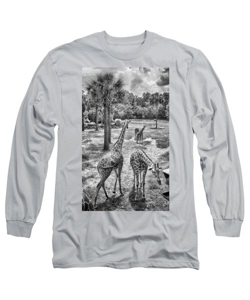 Long Sleeve T-Shirt featuring the photograph Giraffe Reticulated by Howard Salmon