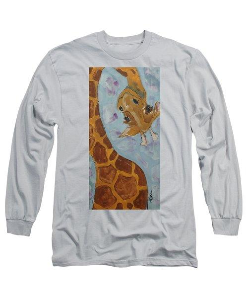 Giraffe Tall Long Sleeve T-Shirt by Terri Einer
