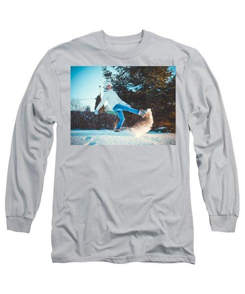Girl And Snow Long Sleeve T-Shirt