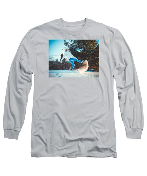 Girl And Snow Long Sleeve T-Shirt