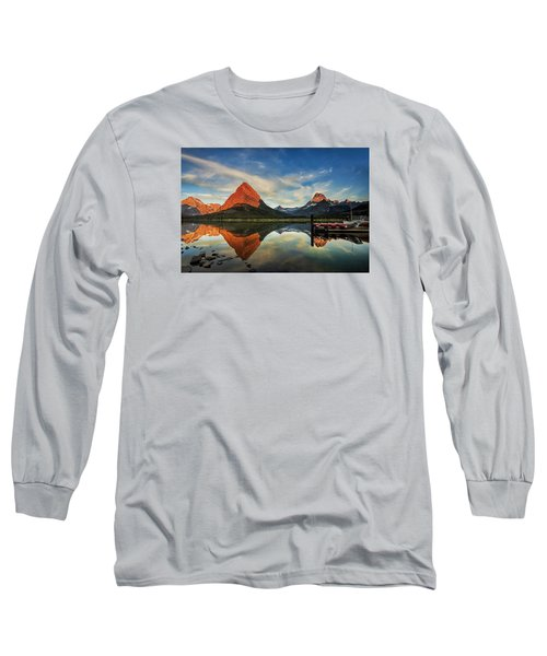 Long Sleeve T-Shirt featuring the photograph Glacier Morning by Andrew Soundarajan