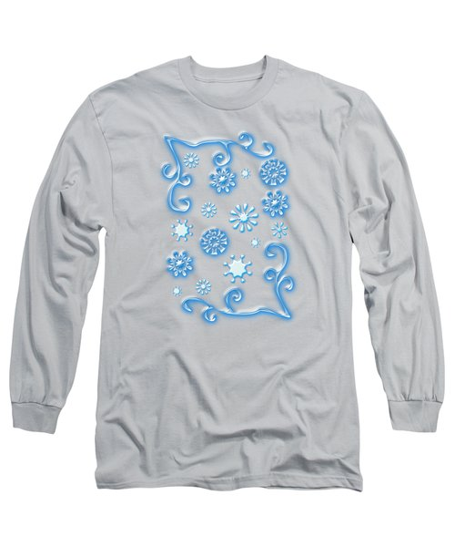 Glass Snowflakes Long Sleeve T-Shirt