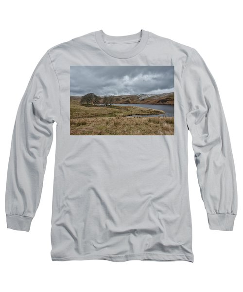 Long Sleeve T-Shirt featuring the photograph Glendevon Reservoir In Scotland by Jeremy Lavender Photography