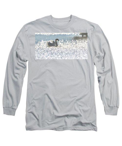 Glitz And Glamory Swan Long Sleeve T-Shirt