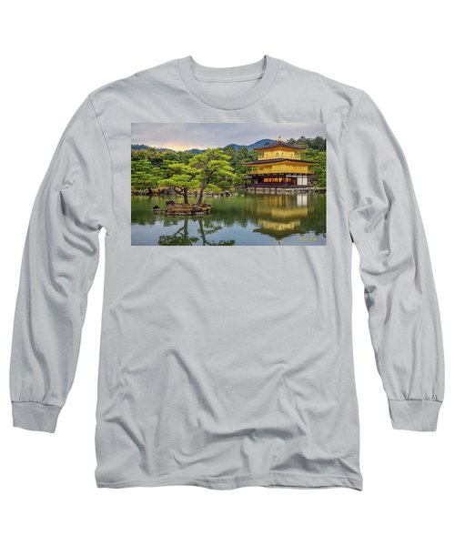 Long Sleeve T-Shirt featuring the photograph Gold Temple,  by Rikk Flohr