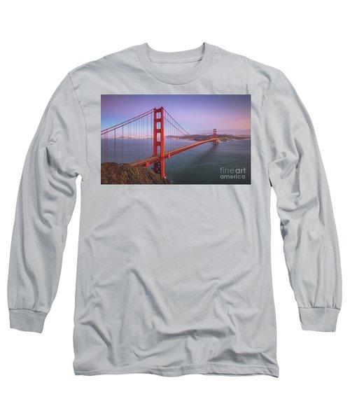 Golden Gate Bridge Twilight Long Sleeve T-Shirt by JR Photography
