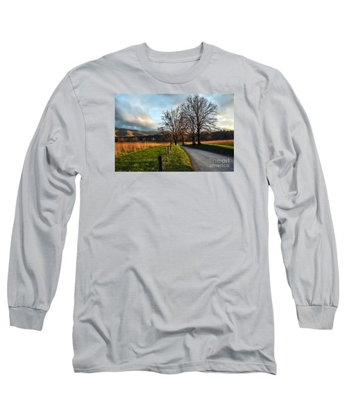 Golden Hour In The Cove Long Sleeve T-Shirt by Debbie Green