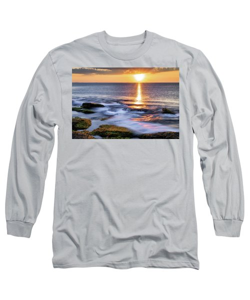 Golden Light Sunset, Rockport  Ma. Long Sleeve T-Shirt
