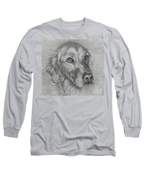 Golden Retriever Drawing Long Sleeve T-Shirt