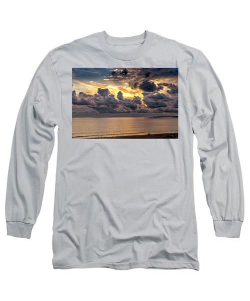Golden Surf - Point Dume, California Long Sleeve T-Shirt