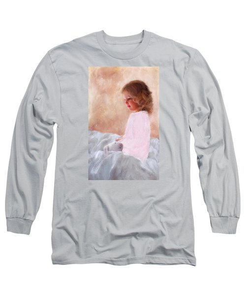 Good Morning Bunnie Long Sleeve T-Shirt by Colleen Taylor