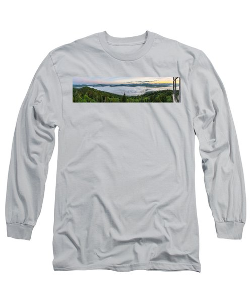 Goodnow Mountain Panorama Long Sleeve T-Shirt
