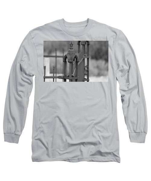 Gothic Ornamental Fence In Boothill Long Sleeve T-Shirt