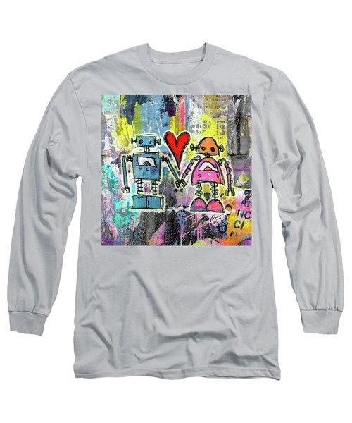 Graffiti Pop Robot Love Long Sleeve T-Shirt