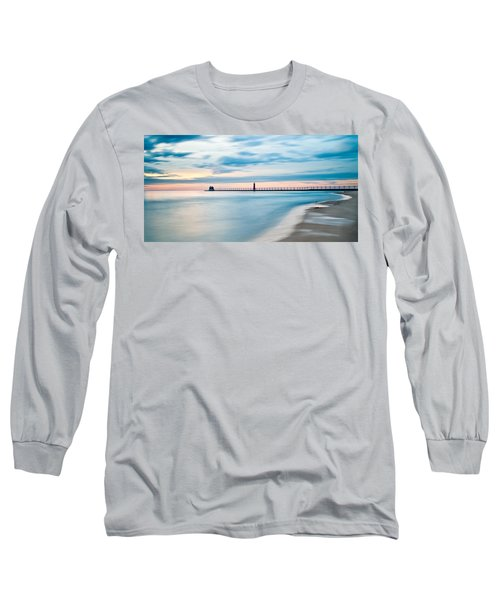 Grand Haven Pier - Smooth Waters Long Sleeve T-Shirt