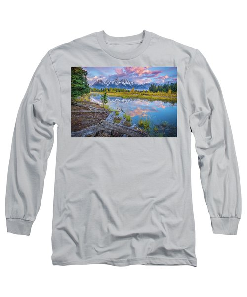 Grand Teton Sunrise Reflection Long Sleeve T-Shirt