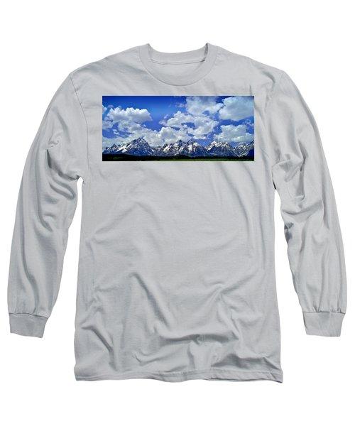 Grand Tetons Long Sleeve T-Shirt by Ellen Heaverlo