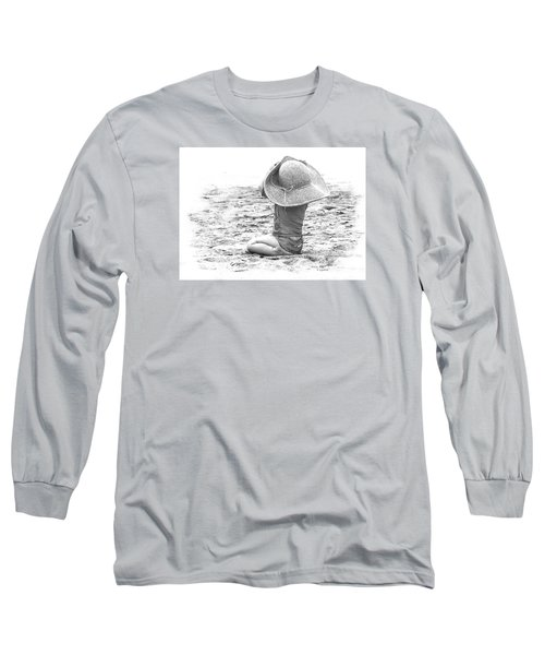 Grandma's Hat Long Sleeve T-Shirt by Kerri Ligatich