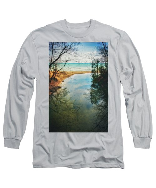 Grant Park - Lake Michigan Shoreline Long Sleeve T-Shirt by Jennifer Rondinelli Reilly - Fine Art Photography