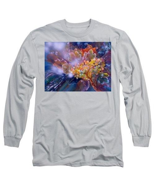 Grapes In A Misty Autumn Night Long Sleeve T-Shirt