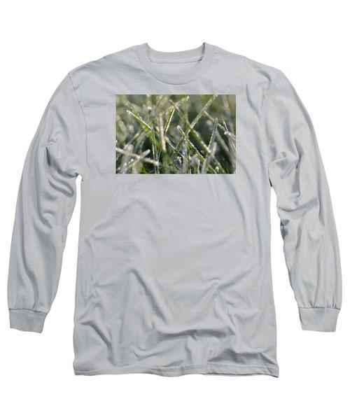 Grass Bokeh Long Sleeve T-Shirt by Nikki McInnes