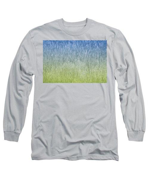 Grass On Blue And Green Long Sleeve T-Shirt by Glenn Gemmell