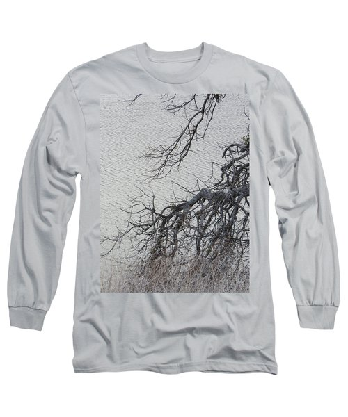 Gray Day At The Lake - Bare Branches Long Sleeve T-Shirt by Brooks Garten Hauschild