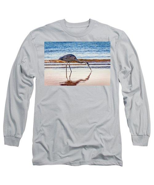 Great Blue Heron Twilight Long Sleeve T-Shirt