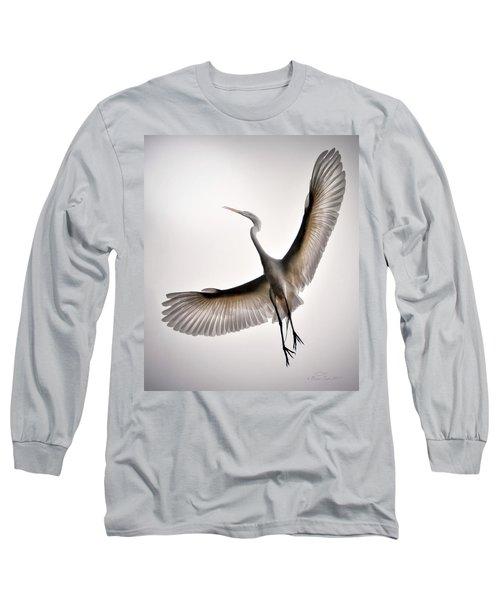 Great Egret Majesty Long Sleeve T-Shirt