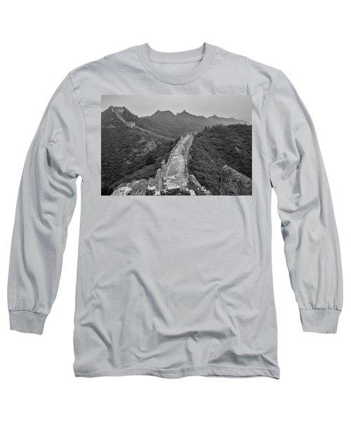 Long Sleeve T-Shirt featuring the photograph Great Wall 6, Jinshanling, 2016 by Hitendra SINKAR