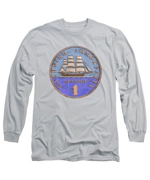 Greek Drachma Long Sleeve T-Shirt