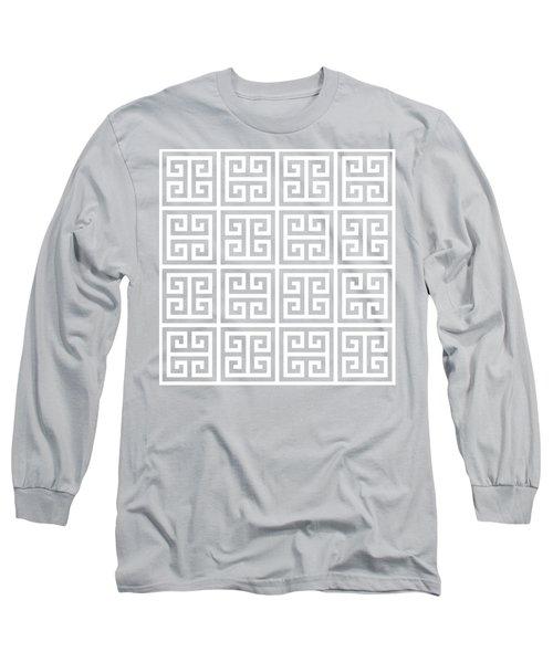Long Sleeve T-Shirt featuring the digital art Greek Pattern 2 - Chuck Staley by Chuck Staley