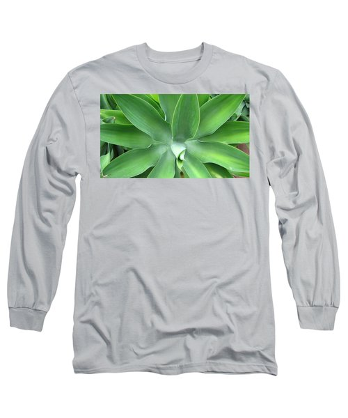 Green Agave Leaves Long Sleeve T-Shirt