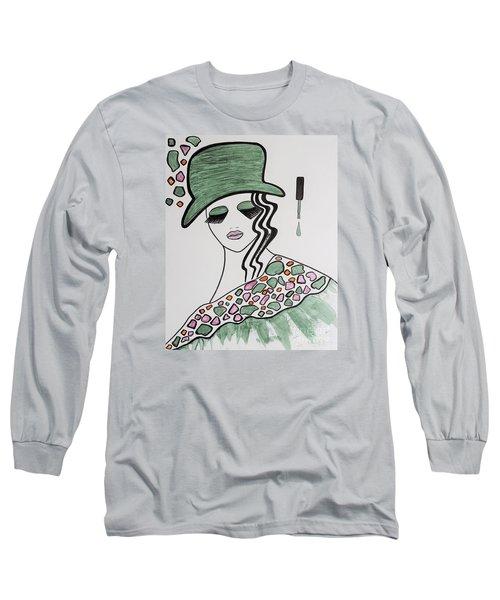 Green Hat Long Sleeve T-Shirt