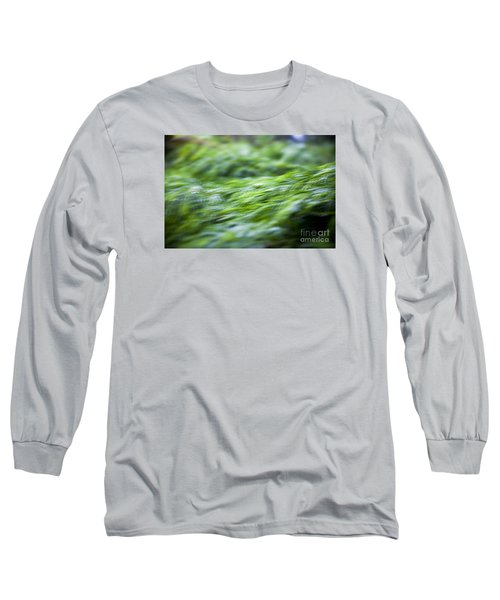 Long Sleeve T-Shirt featuring the photograph Green Waterfall 1 by Serene Maisey