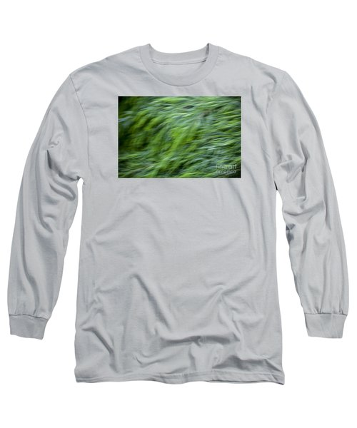 Long Sleeve T-Shirt featuring the photograph Green Waterfall 2 by Serene Maisey
