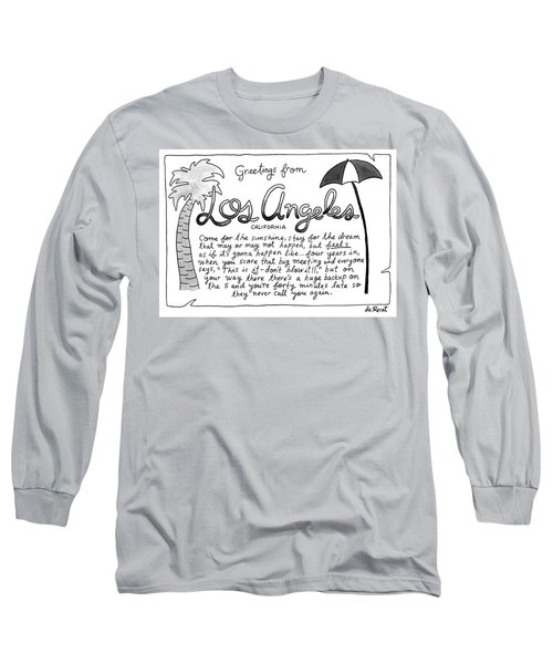 Greetings From Los Angeles Long Sleeve T-Shirt