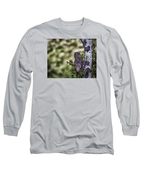 Grey Ghost Long Sleeve T-Shirt by Elizabeth Eldridge