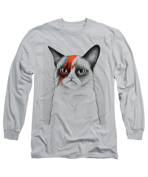 Grumpy Cat As David Bowie Long Sleeve T-Shirt